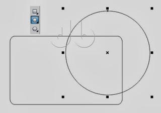 membuat lingkaran pada kartu nama dengan corel draw